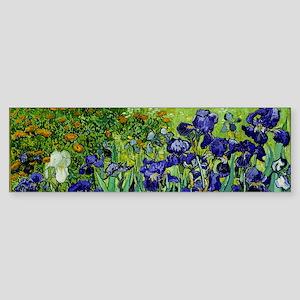 van gogh irises, st. remy Bumper Sticker
