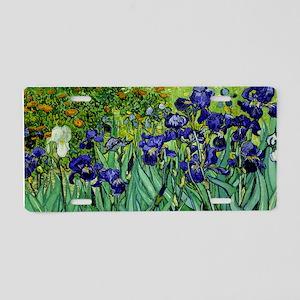 van gogh irises, st. remy Aluminum License Plate