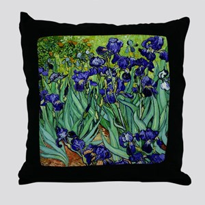 van gogh irises, st. remy Throw Pillow