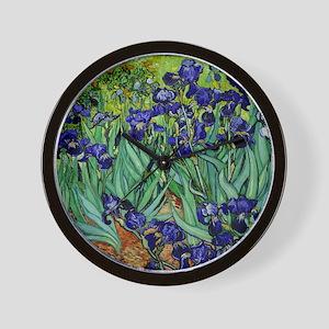 van gogh irises, st. remy Wall Clock