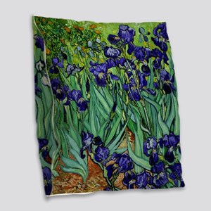 van gogh irises, st. remy Burlap Throw Pillow