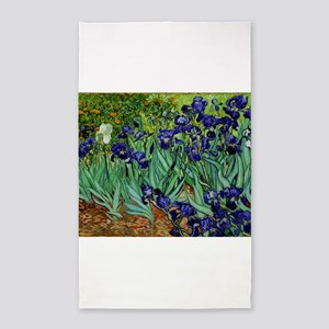 van gogh irises, st. remy 3'x5' Area Rug