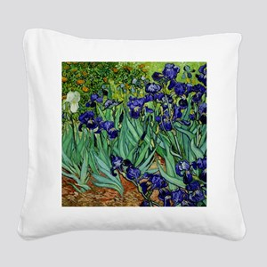 van gogh irises, st. remy Square Canvas Pillow