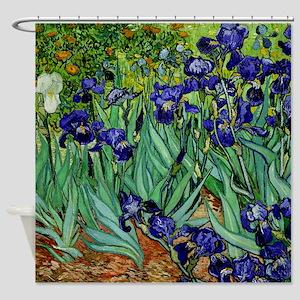 van gogh irises, st. remy Shower Curtain