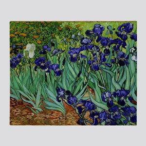 van gogh irises, st. remy Throw Blanket