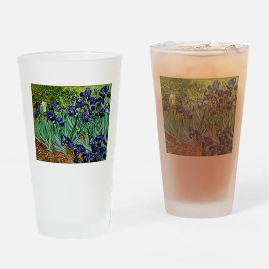 van gogh irises, st. remy Drinking Glass