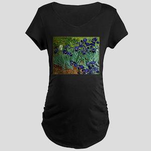 van gogh irises, st. remy Maternity T-Shirt