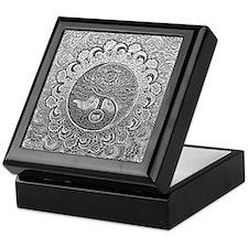 Shiny Metallic Tree of Life Yin Yang Keepsake Box