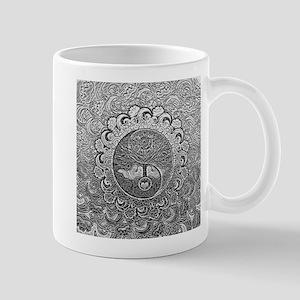 Shiny Metallic Tree of Life Yin Yang Mugs