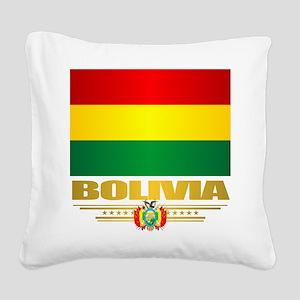Flag of Bolivia Square Canvas Pillow