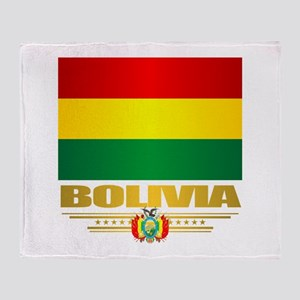 Flag of Bolivia Throw Blanket