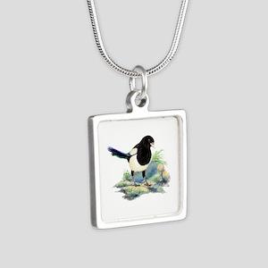 Watercolor Curious Magpie Bird Nature Necklaces
