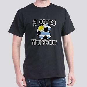 3 Bites You're Out with Uruguay Flag Dark T-Shirt