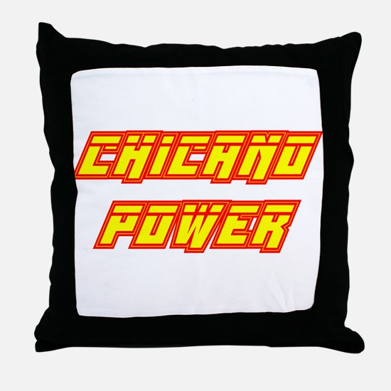 Chicano Power Streak Throw Pillow