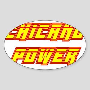 Chicano Power Streak Oval Sticker