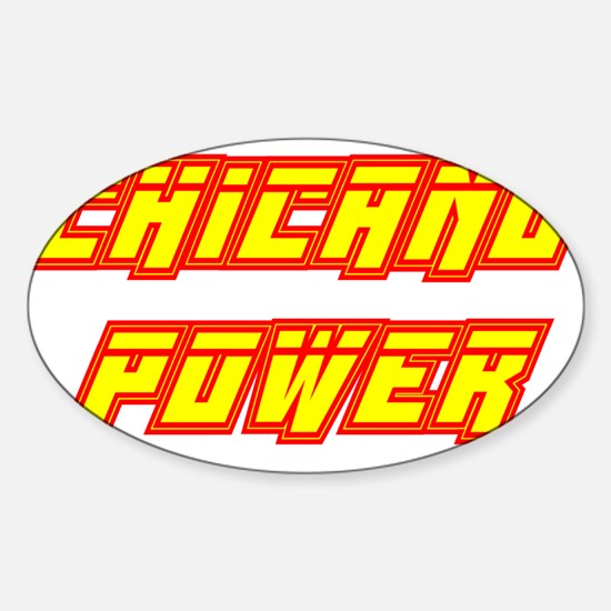 Chicano Power Streak Oval Decal