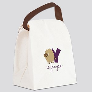 Y Is For Yak Canvas Lunch Bag