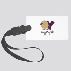 Y Is For Yak Luggage Tag