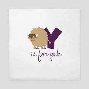 Y Is For Yak Queen Duvet