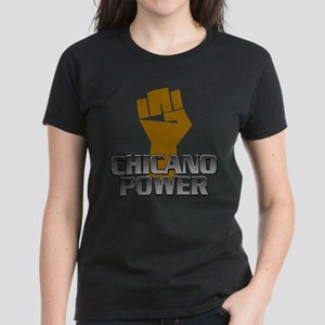 Chicano Power Fist Women's Dark T-Shirt