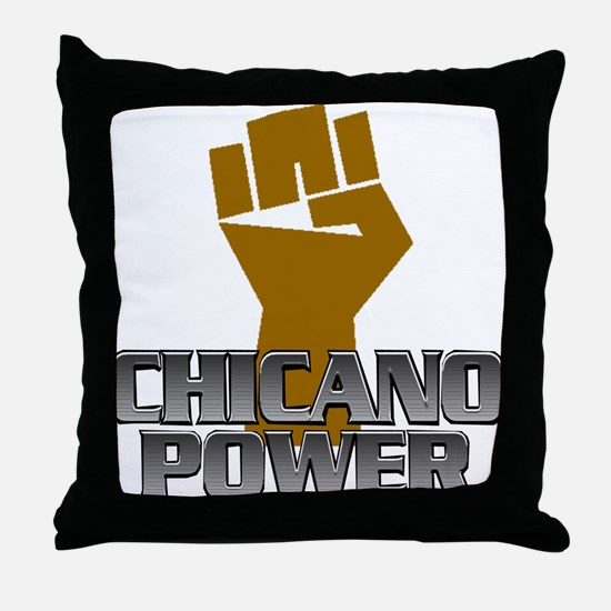 Chicano Power Fist Throw Pillow