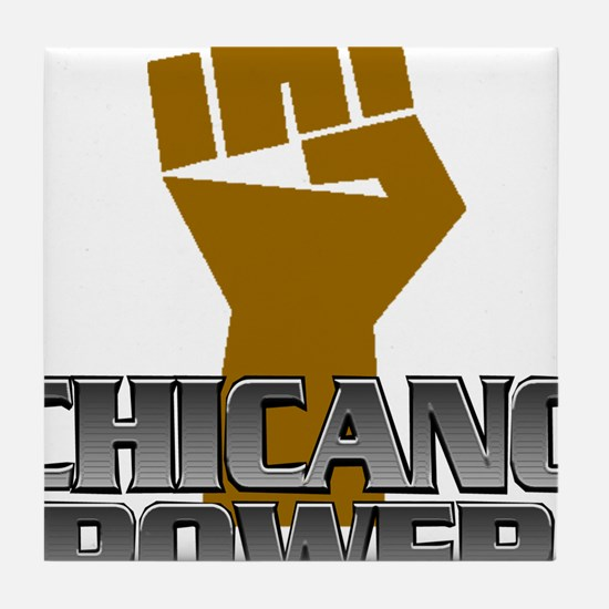 Chicano Power Fist Tile Coaster