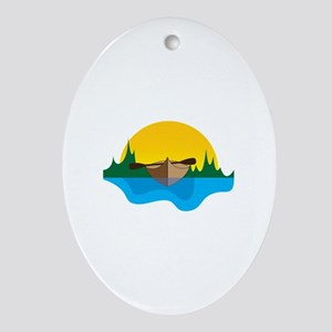 Canoeing Ornament (Oval)