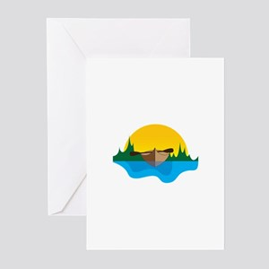 Canoeing Greeting Cards