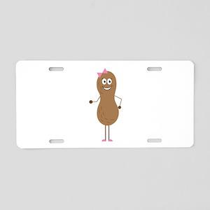 Lil Girl Peanut Aluminum License Plate