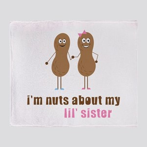 I'm Nuts About My Lil' Sister Throw Blanket