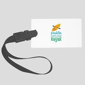 Paddle Explore Kayak Luggage Tag