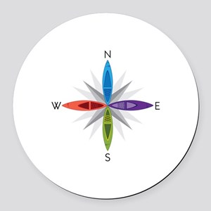 Directions Round Car Magnet
