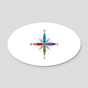 Directions Oval Car Magnet