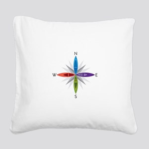 Directions Square Canvas Pillow