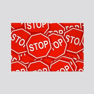 Stop Signs Rectangle Magnet