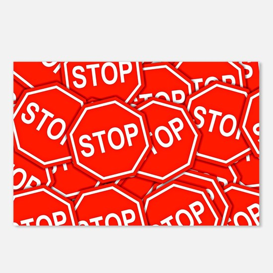 Stop Signs Postcards (Package of 8)