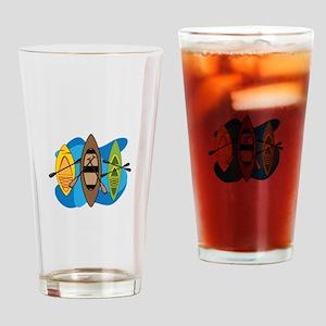 Kayaks Drinking Glass