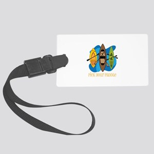 Pick Your Paddle Luggage Tag