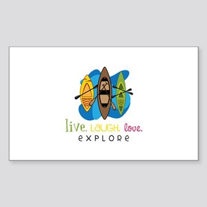 Live Laugh Love Explore Sticker