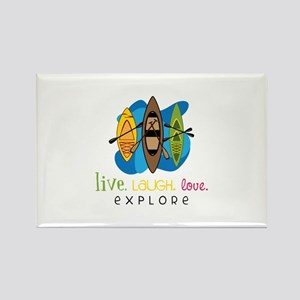 Live Laugh Love Explore Magnets