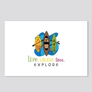 Live Laugh Love Explore Postcards (Package of 8)