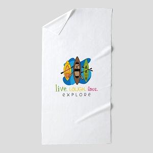 Live Laugh Love Explore Beach Towel