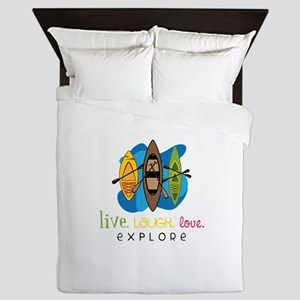 Live Laugh Love Explore Queen Duvet
