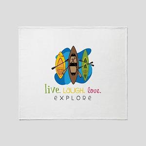 Live Laugh Love Explore Throw Blanket
