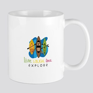 Live Laugh Love Explore Mugs