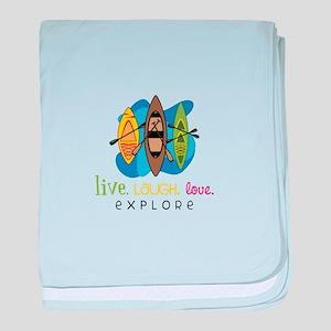 Live Laugh Love Explore baby blanket