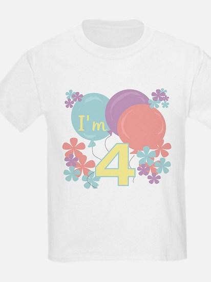 4th Pastel Birthday Kids T-Shirt