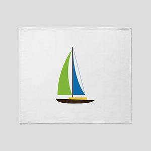 Sailing Boat Throw Blanket
