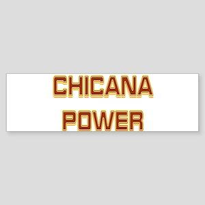 Chicana Power Trekker Bumper Sticker
