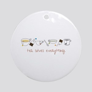 Tea Solves Everything Ornament (Round)